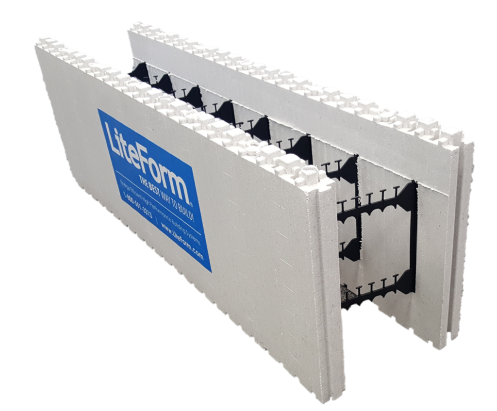 Insulated concrete forms for r when brick veneer is used for Icf concrete