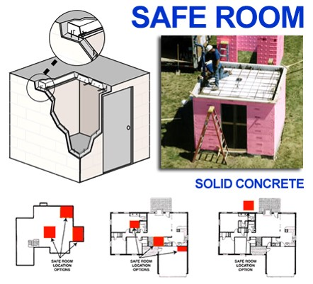 Fema approved safe rooms provide additional protection for Panic room construction plans