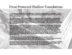 Frost Protected Shallow Foundations - LiteForm