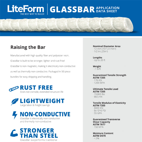 LiteForm GlassBar Application Data Sheet